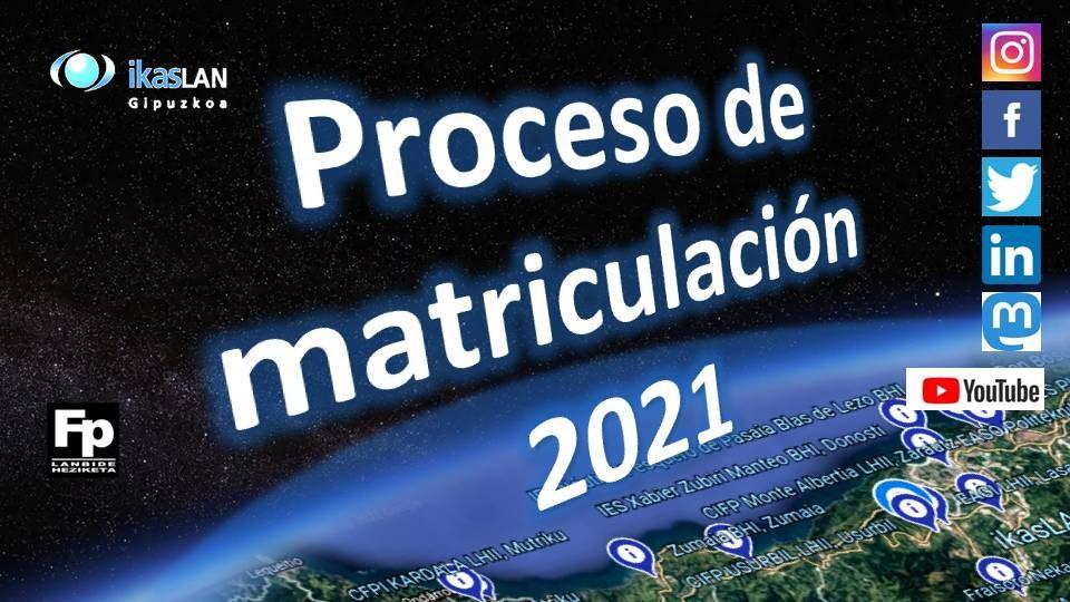 Proceso de matriculación: alumnado
