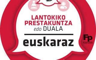 Lantokiko Prestakuntza euskaraz ziurtagiria